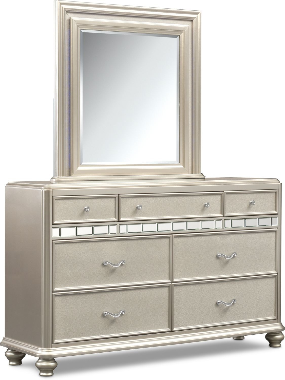 Bedroom Furniture - Sabrina Dresser and Mirror