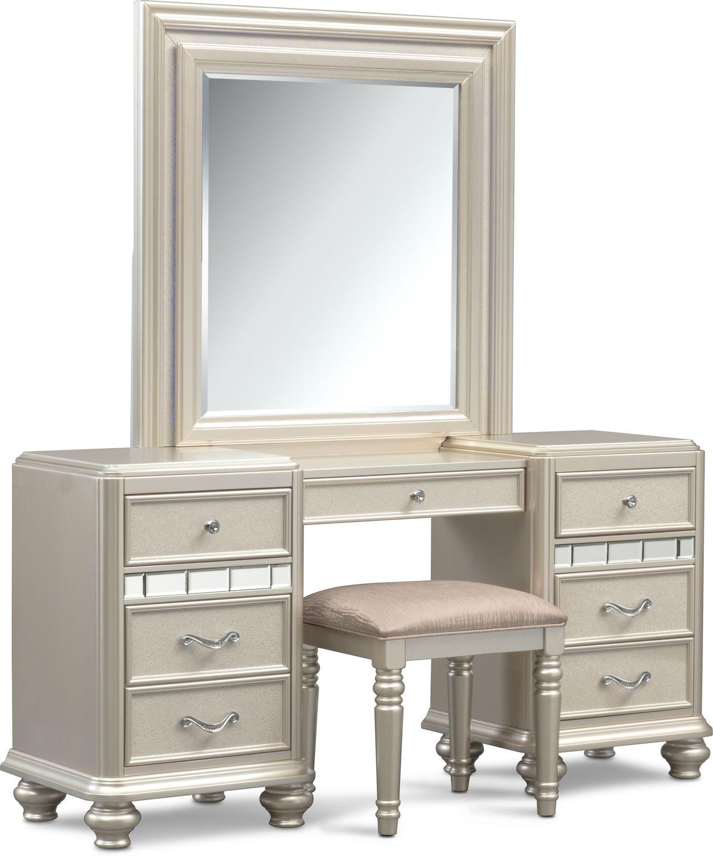 Bedroom Furniture - Sabrina Vanity, Mirror and Bench