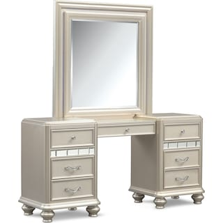 Sabrina Vanity Desk and Mirror