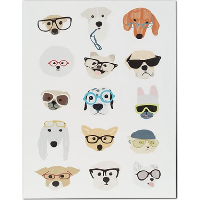 Accent and Occasional Furniture - Hip Dog Wall Art