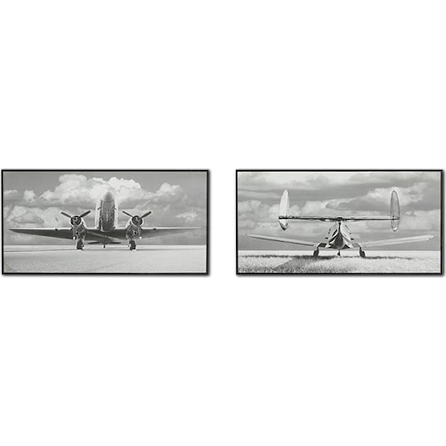 Accent and Occasional Furniture - Aviation 2-Piece Framed Print Set