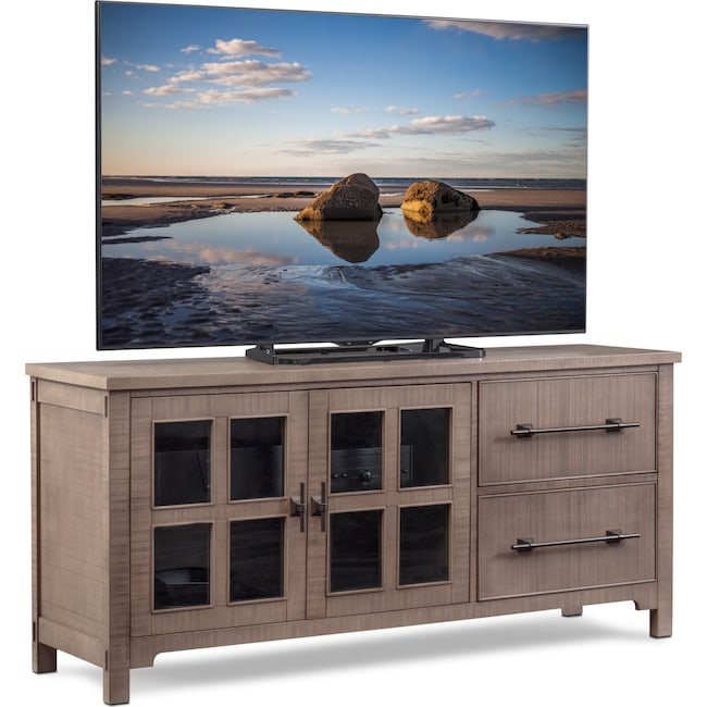 "Entertainment Furniture - Tiburon 71"" TV Stand - Gray"