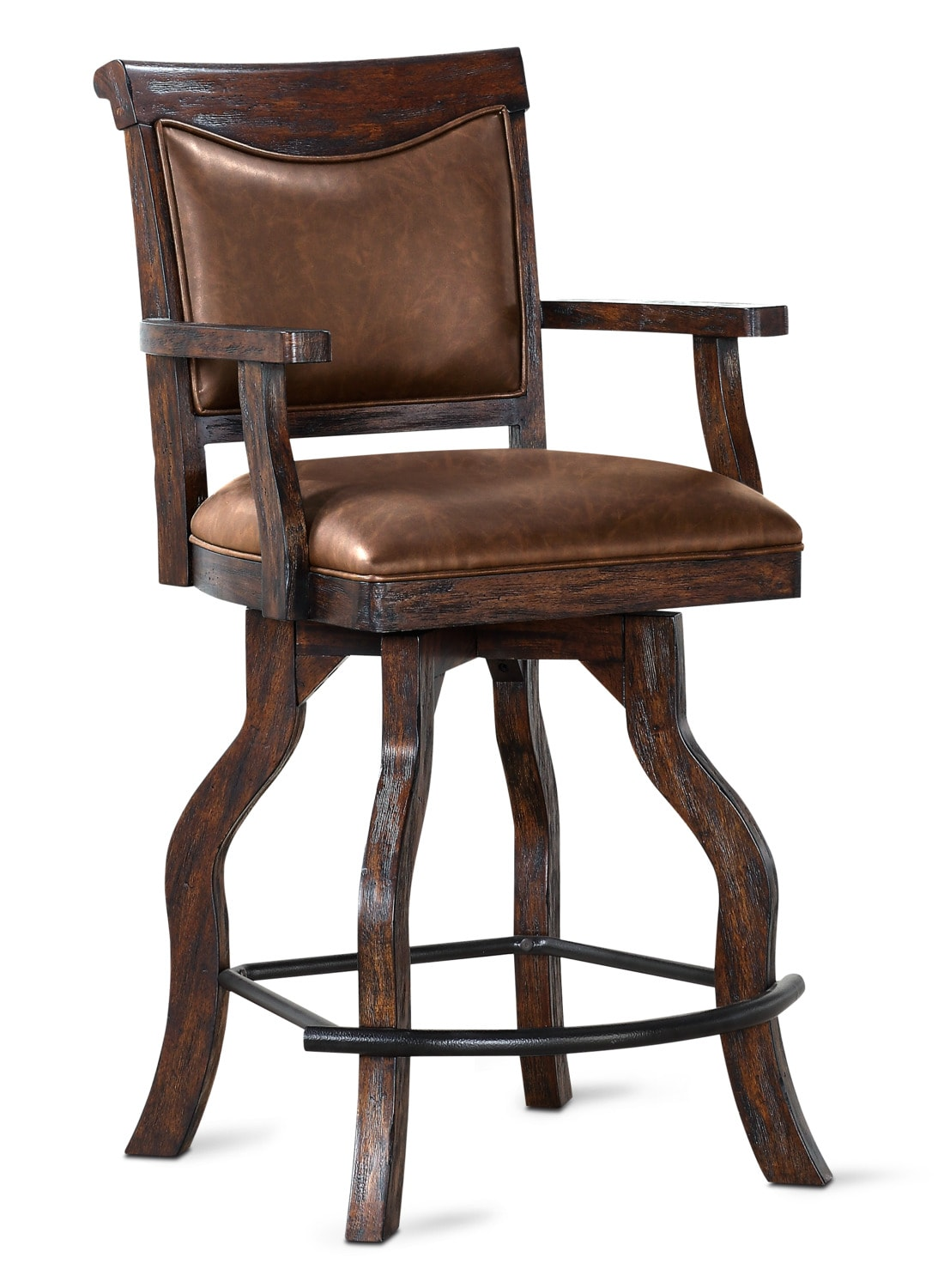 Dining Room Furniture - Sheffield Counter-Height Upholstered Stool - Walnut