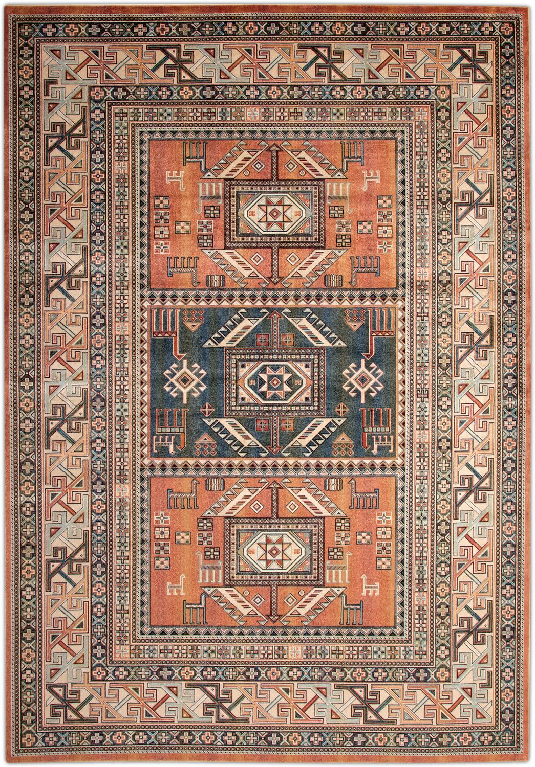 Sonoma Area Rug Aqua And Copper