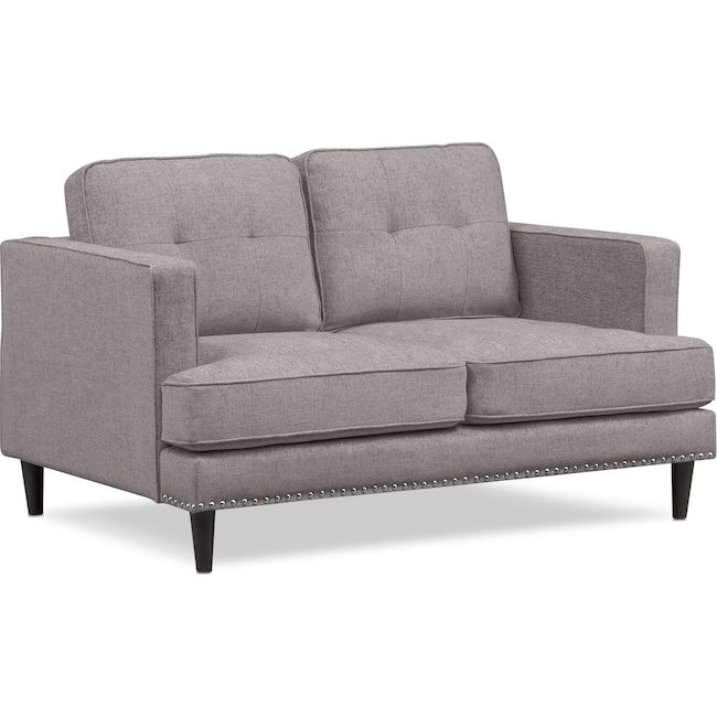 Living Room Furniture - Parker Loveseat - Gray