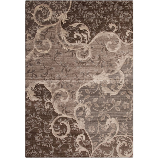 Rugs - Sonoma Area Rug - Chocolate and Gray