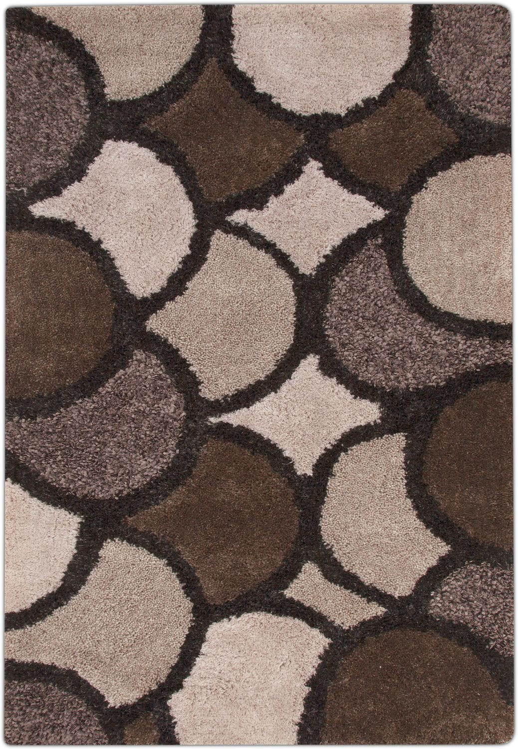 Lifestyle Disco Area Rug Beige