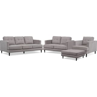 Parker Sofa, Loveseat, Chair and Ottoman Set