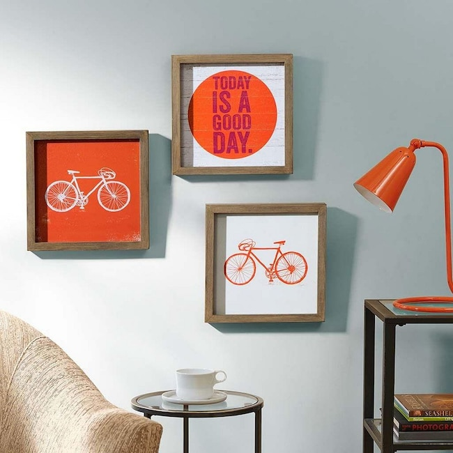 Accent and Occasional Furniture - Today is a Good Day 3-Piece Framed Print Set