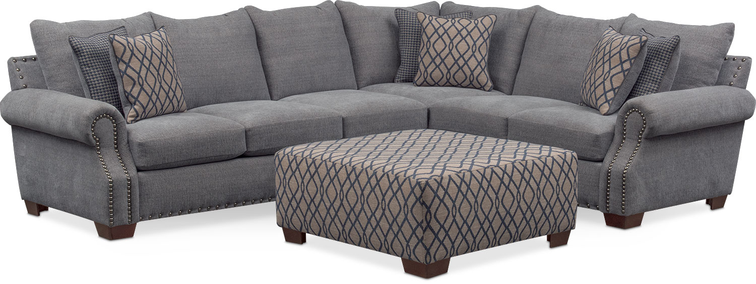 Bolton 2 Piece Sectional With Left Facing Sofa And