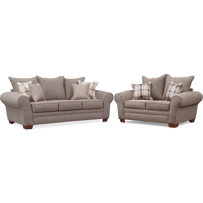 Living Room Furniture - Rowan Sofa and Loveseat Set