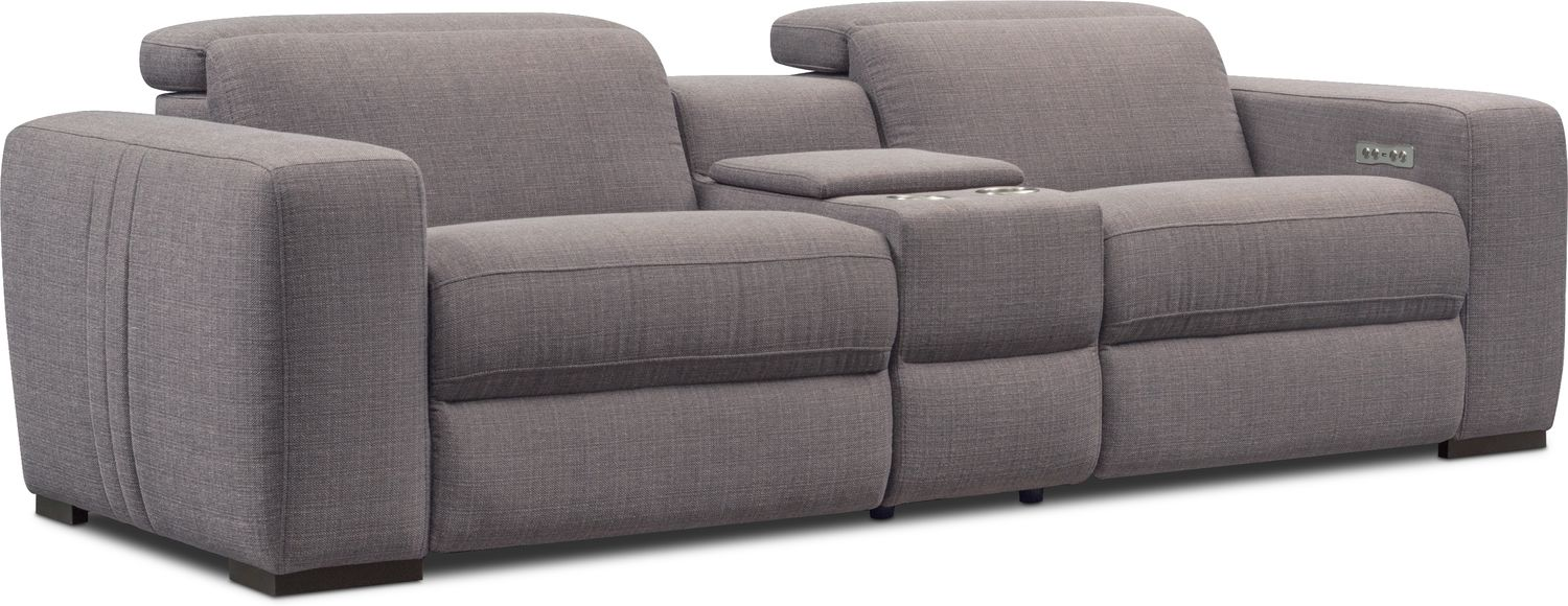 Tino 3 Piece Dual Power Reclining Sofa Value City Furniture And
