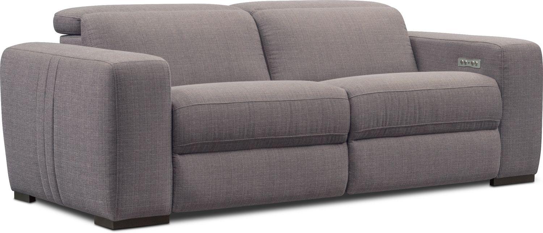 Living Room Furniture - Tino 2-Piece Dual Power Reclining Sofa
