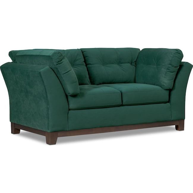 Living Room Furniture - Sebring Loveseat - Emerald