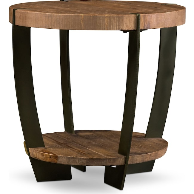 Accent and Occasional Furniture - Wessex End Table - Reclaimed Pine