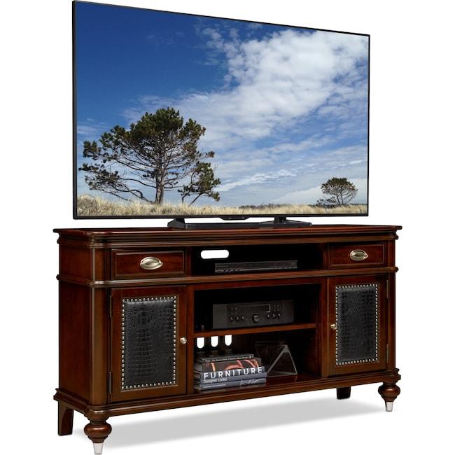 """Entertainment Furniture - Esquire 64"""" TV Stand - Merlot"""
