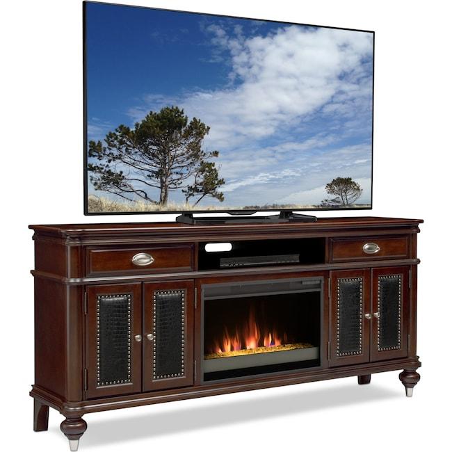 Esquire 76 Contemporary Fireplace Tv Stand Merlot Value City