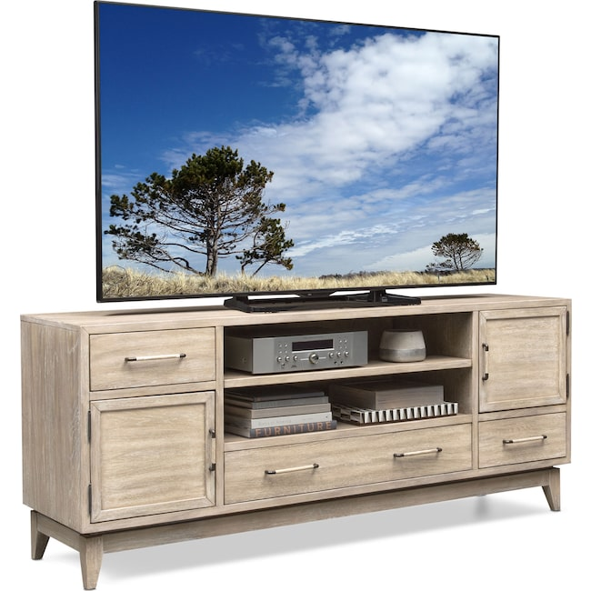 "Entertainment Furniture - Saybrook 74"" TV Stand - Sandstone"