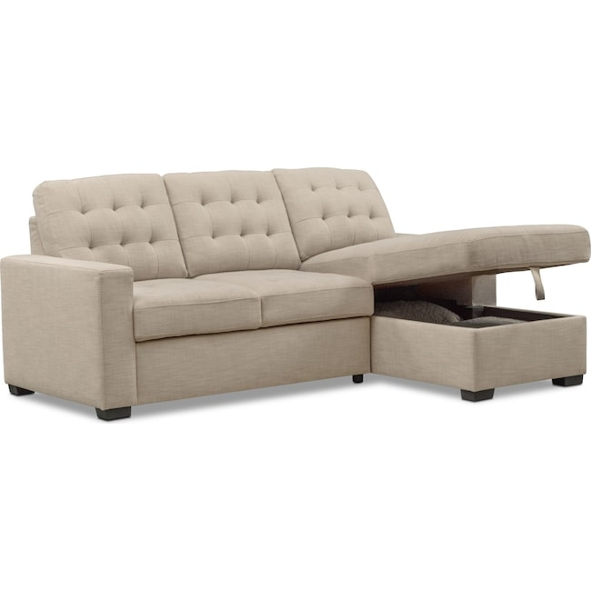 Chatman 2 Piece Sleeper Sectional With Chaise Value City Furniture