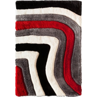 Magna Astro Area Rug - Red