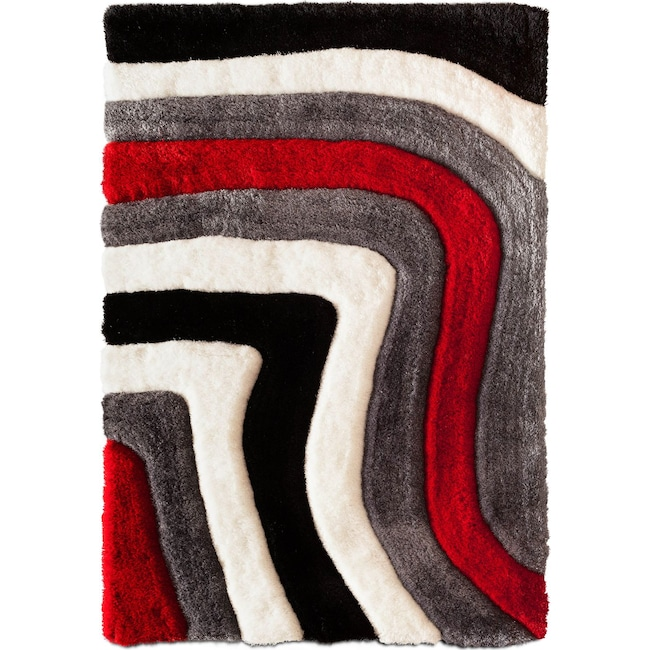 Rugs - Magna Astro 7' x 10' Area Rug - Red