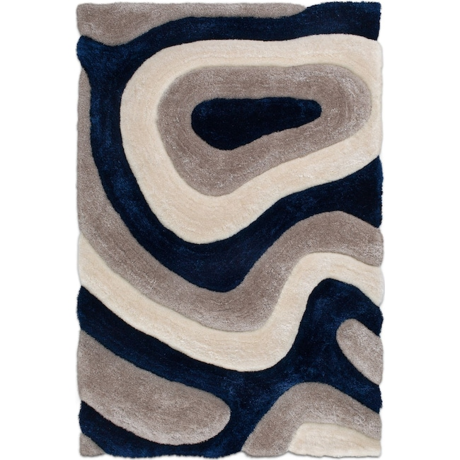 Magna Pangea 7 X 10 Area Rug Navy Value City Furniture And