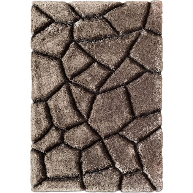 Rugs - Magna Stepping Stones 5' x 7' Area Rug - Gray