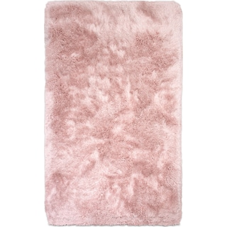 Sparkle Shag Area Rug - Rose Quartz