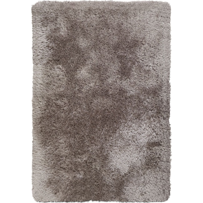 Rugs - Sparkle Shag Area Rug - Platinum