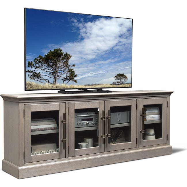 "Entertainment Furniture - Telluride 85"" TV Stand - Parchment"