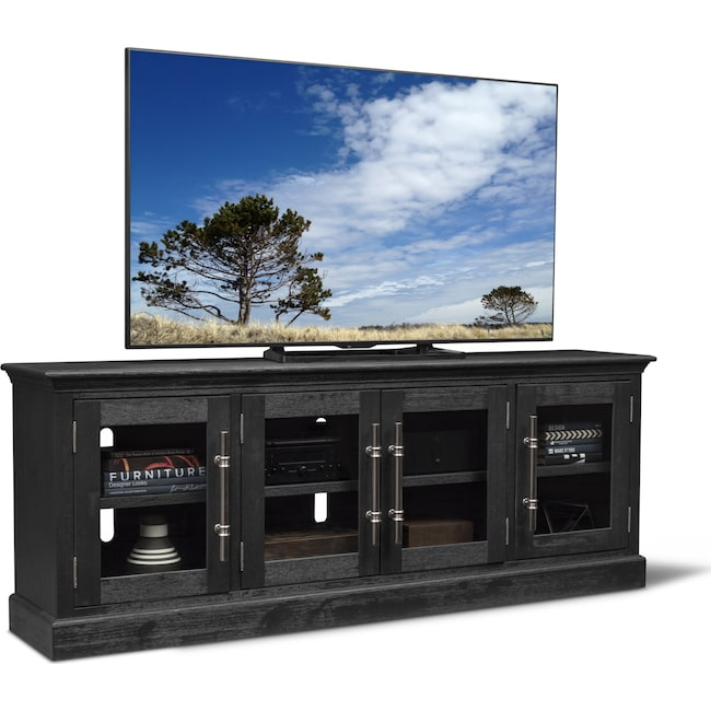 Telluride 85 Tv Stand Truffle Value City Furniture And Mattresses