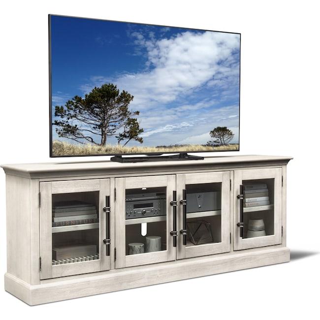 "Entertainment Furniture - Telluride 85"" TV Stand - Water White"