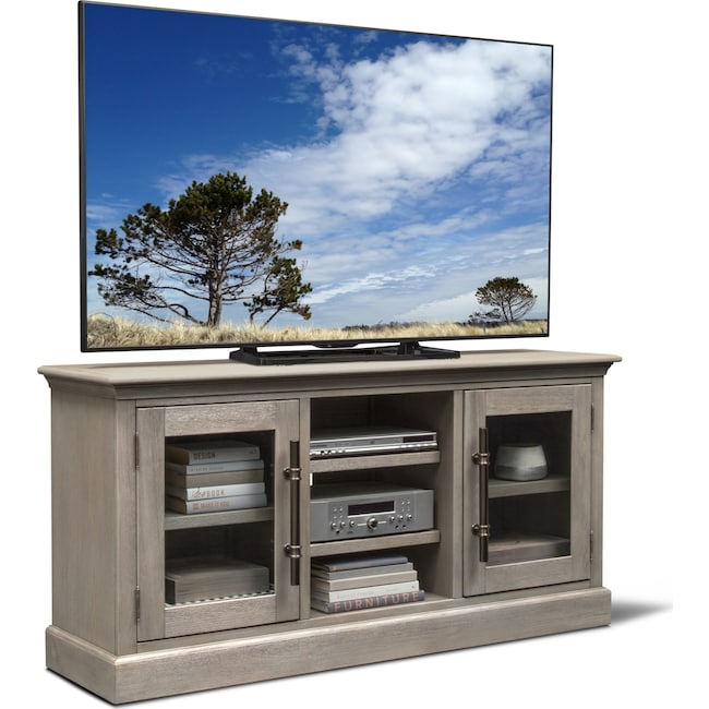 "Entertainment Furniture - Telluride 66"" TV Stand - Parchment"