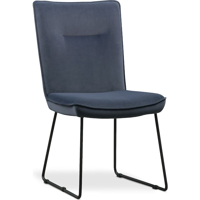 Dining Room Furniture - Portland Upholstered Side Chair - Slate