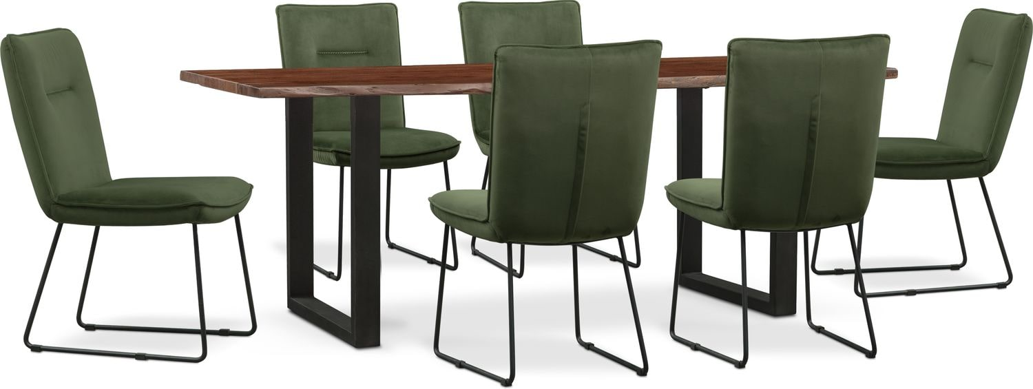 Dining Room Furniture Portland Table And 6 Upholstered Side Chairs
