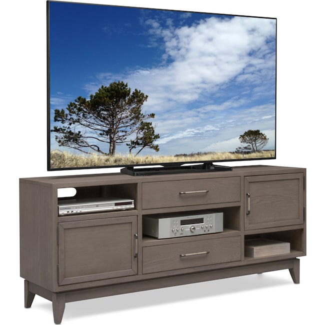 "Entertainment Furniture - Saybrook 66"" TV Stand - Gray"