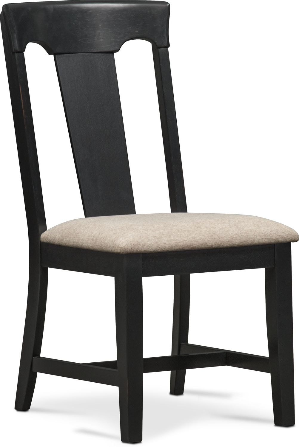 Adler Side Chair - Black  sc 1 st  Value City Furniture : what is a side chair - Cheerinfomania.Com