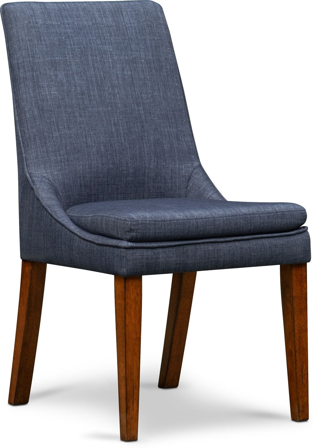 Adler Upholstered Side Chair - Indigo  sc 1 st  Value City Furniture : what is a side chair - Cheerinfomania.Com