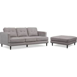 Parker Sofa and Ottoman Set