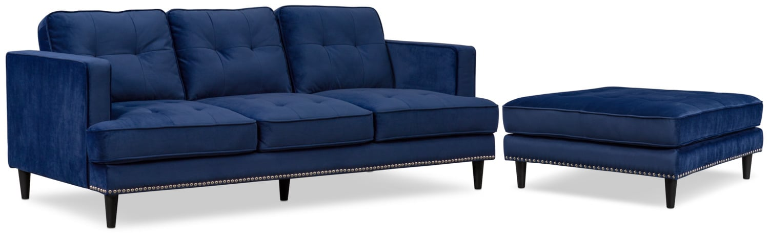 Outstanding Parker Sofa With Ottoman Ocoug Best Dining Table And Chair Ideas Images Ocougorg