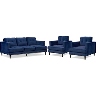 Parker Sofa And 2 Chairs Set