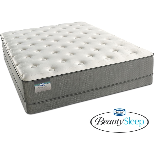 Mattresses and Bedding - Alpine White Plush Twin Mattress and Low-Profile Foundation Set
