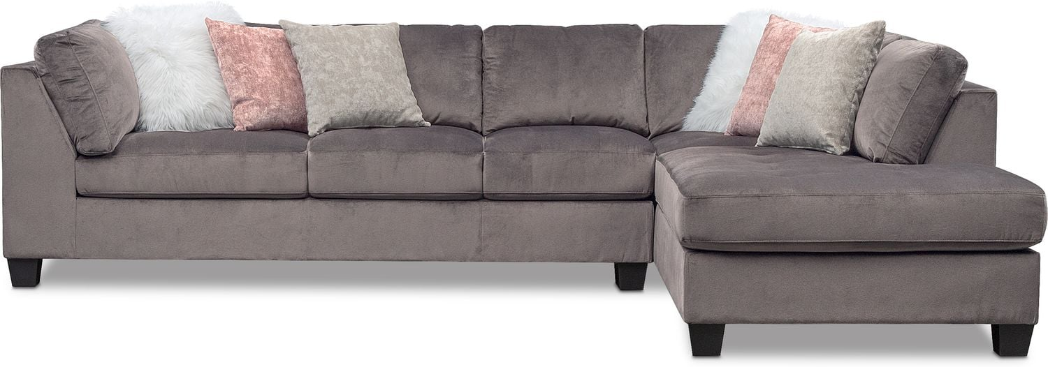 Mackenzie 2 Piece Sectional With Chaise Value City Furniture And