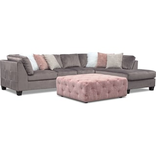 Mackenzie 2-Piece Sectional with Ottoman
