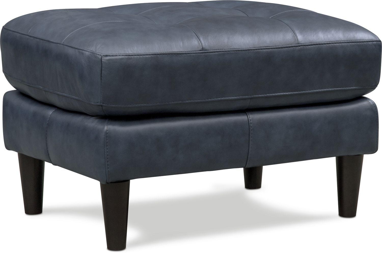 Living Room Furniture - Lincoln Ottoman - Blue