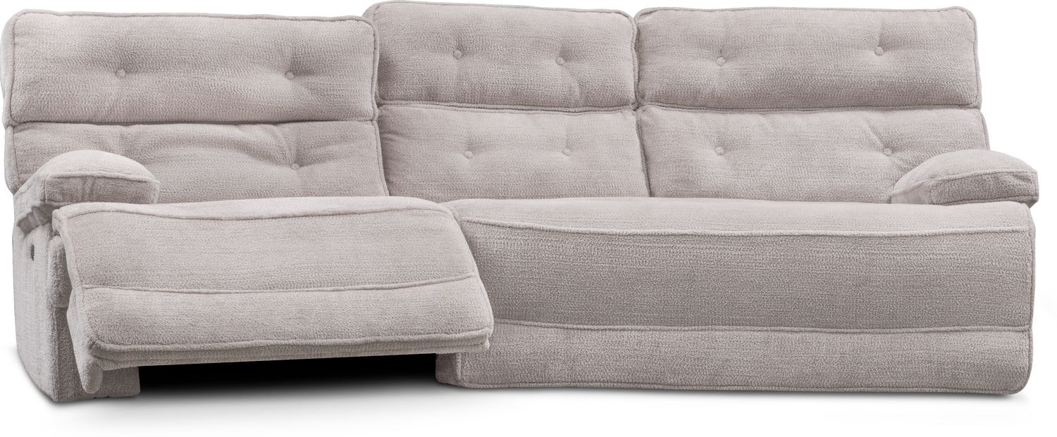 Hugger 2 Piece Dual Power Reclining Sectional With Right
