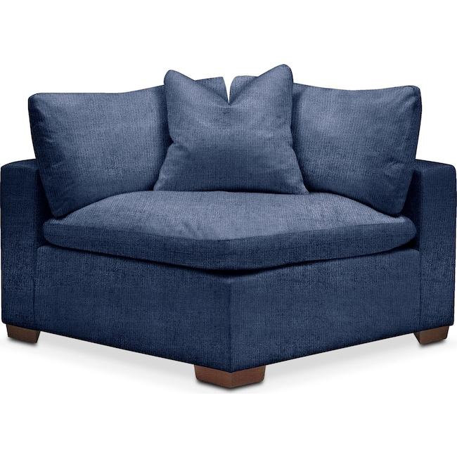 Living Room Furniture - Plush Corner Chair- in Abington TW Indigo