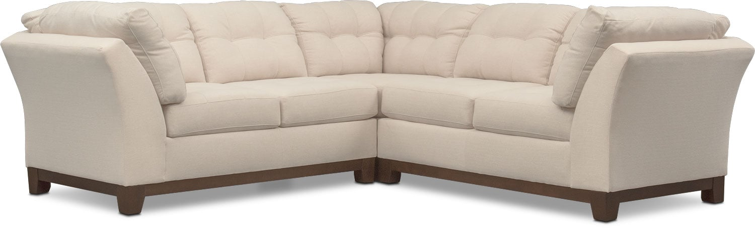 Living Room Furniture   Sebring 3 Piece Sectional   Oyster