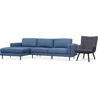 West End 2-Piece Sectional and Accent Chair Set
