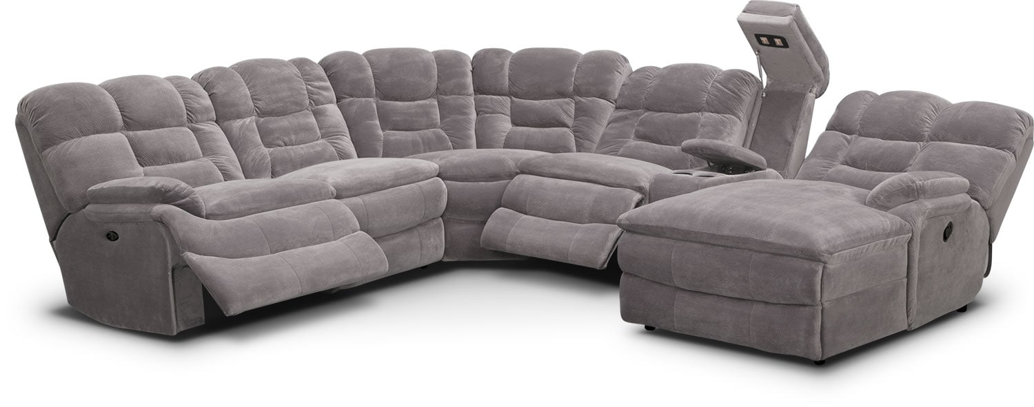 Big Softie 9 Pc. Power Reclining Sectional | Value City Furniture ... | big softie value city